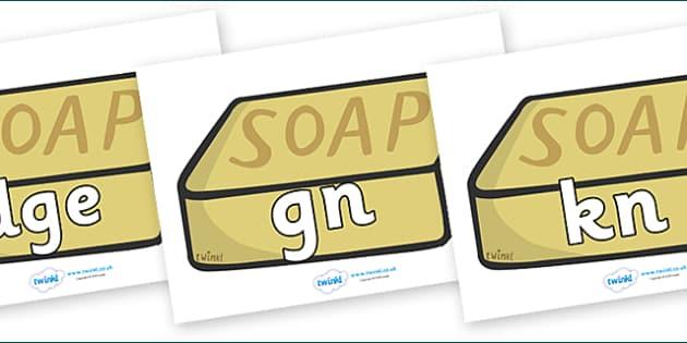 Silent Letters on Soap - Silent Letters, silent letter, letter blend, consonant, consonants, digraph, trigraph, A-Z letters, literacy, alphabet, letters, alternative sounds