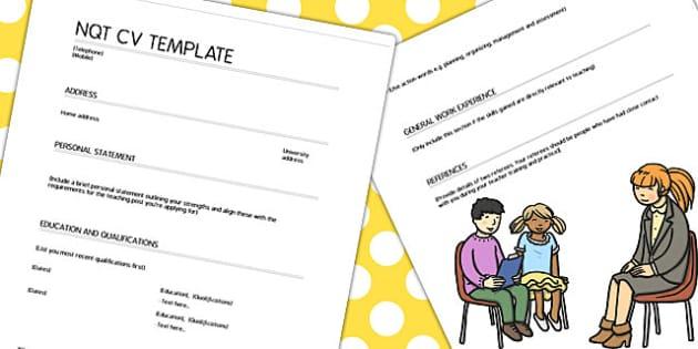 NQT CV Template - nqt, cv, template, job, teacher, qualified