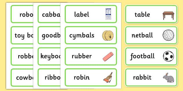Medial 'b' Word Cards - speech sounds, phonology, articulation, speech therapy, dyspraxia