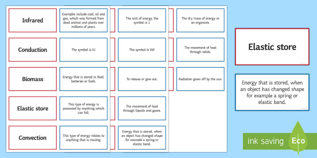 Energy Pairs Glossary Activity - Glossary, energy, conduction, biomass, joule, fossil fuels