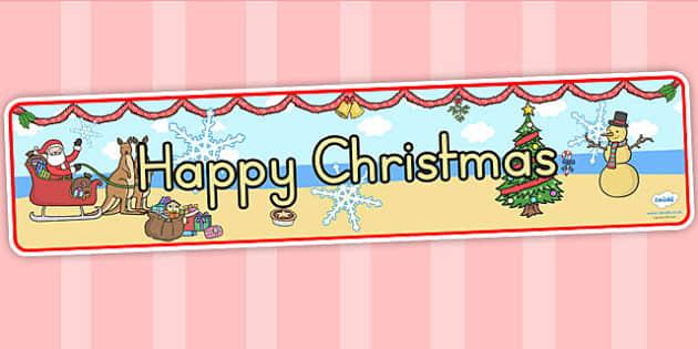Australia Happy Christmas Display Banner - christmas, banner, display, xmas
