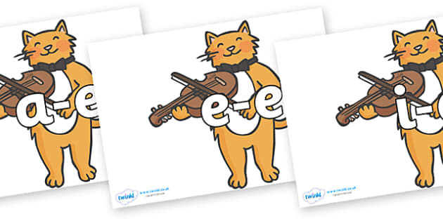 Modifying E Letters on Cat and Fiddle - Modifying E, letters, modify, Phase 5, Phase five, alternative spellings for phonemes, DfES letters and Sounds