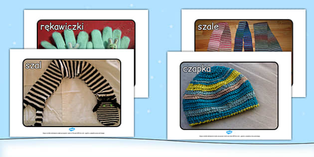 Materiały na gazetkę Zimowe ubrania po polsku - odzież, ubiór