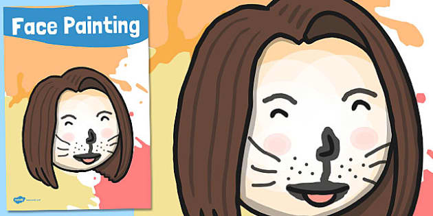 Face Painting Poster - face, painting, display poster, display