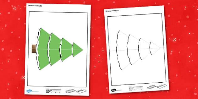 Christmas Tree Pop Up Card - christmas tree, pop up card, pop up, card, christmas, tree