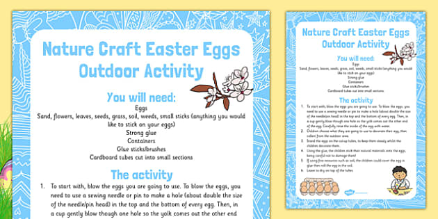Nature Craft Easter Eggs Outdoor Activity - Easter, craft, nature craft, easter egg, nature, craft, outdoor, activity
