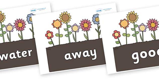 Next 200 Common Words on Garden Flowers - Next 200 Common Words on  - DfES Letters and Sounds, Letters and Sounds, Letters and sounds words, Common words, 200 common words