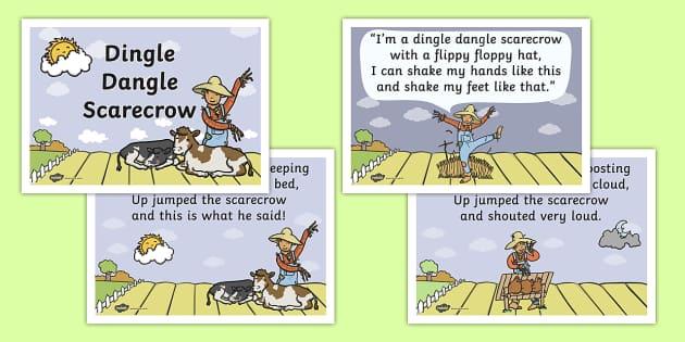 Dingle Dangle Scarecrow Nursery Rhyme - scarecrow, nursery rhyme