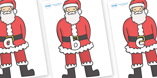 Phase 2 Phonemes on Father Christmas - Phonemes, phoneme, Phase 2, Phase two, Foundation, Literacy, Letters and Sounds, DfES, display