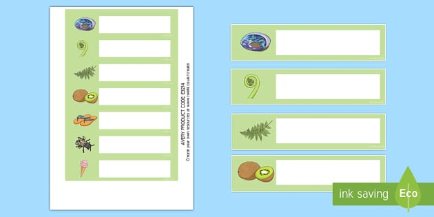 NZ  Icons Themed Editable Drawer, Peg, Name Labels, new zealand, classroom