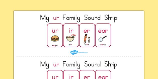 My Ur Family Sound Strip - sound family, visual aid, literacy