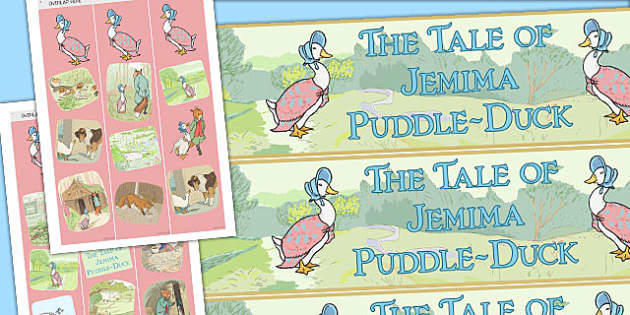 The Tale of Jemima Puddle-Duck Display Borders - jemima puddle-duck