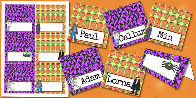 Halloween Party Place Names - halloween, party, place, names