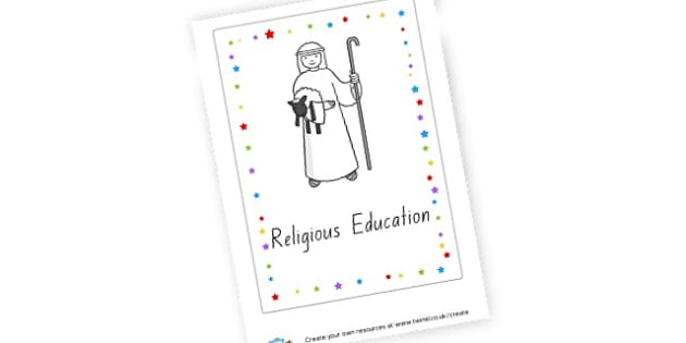 Religious Education Book Cover - General, Classroom Signs and Labels, Religion, General,  Primary