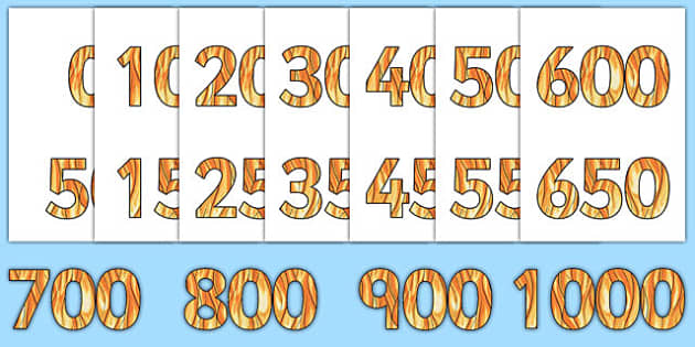 Numbers 0-1000 on flames - numbers, numeracy, flames, 1000, maths, counting, 50, 50s, fifty, fifties