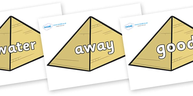 Next 200 Common Words on Pyramids - Next 200 Common Words on  - DfES Letters and Sounds, Letters and Sounds, Letters and sounds words, Common words, 200 common words