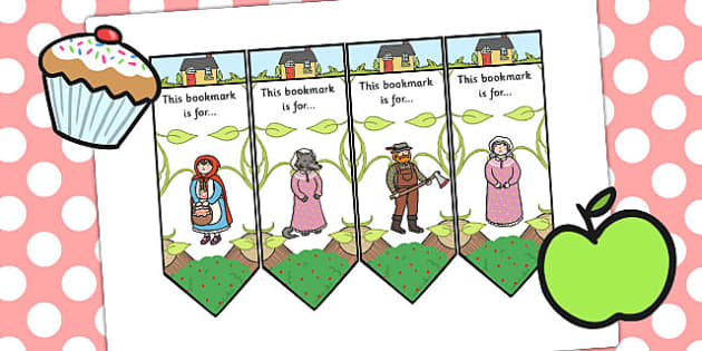 Little Red Riding Hood Editable Bookmarks - bookmark, books