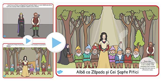 Alba ca Zapada si cei Sapte Pitici, rezumat, imagini, powerpoint, Romanian