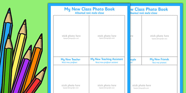 My New Class Photo Book Romanian Translation - romanian, my new class, photo book, photo, book
