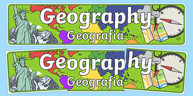 Geography Display Banner Polish Translation - polish, geography, geo, display, banner, sign, poster, earth, land, atlas, direction, compass, mountain, landscape, rock, rivers, sea