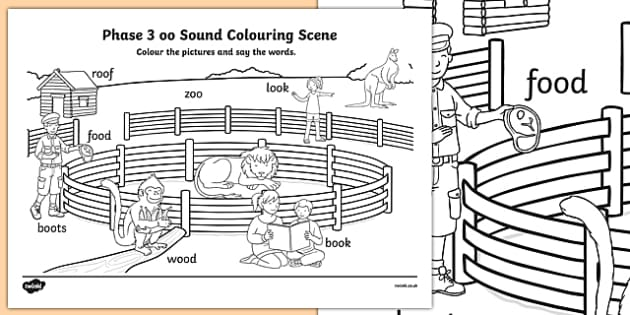 Phase 3 oo Sound Colouring Scene