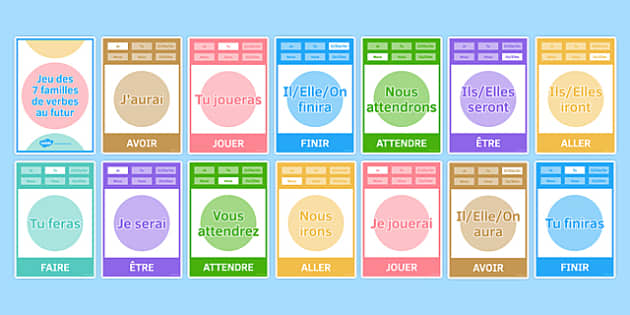 Future Tense Happy Families Card Game-French