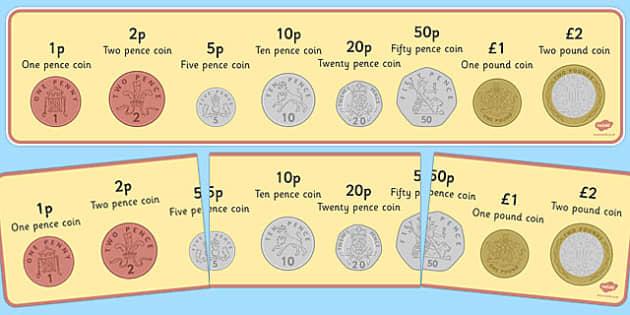 Coin Strip Display Banner - coin strip, display banner, display, banner