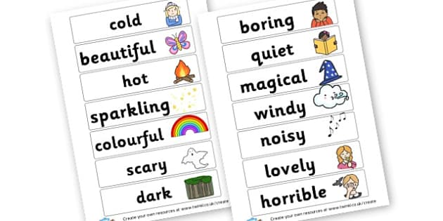 WOW words - Wow Words & Adjectives Primary Resources, cll, wow, keywords
