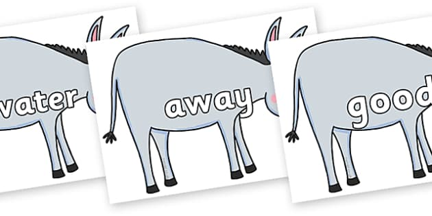 Next 200 Common Words on Hullabaloo Donkey to Support Teaching on Farmyard Hullabaloo - Next 200 Common Words on  - DfES Letters and Sounds, Letters and Sounds, Letters and sounds words, Common words, 200 common words