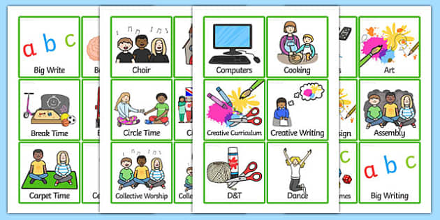 KS2 Daily Routine Cards - KS2, key stage two, key stage 2, visual timetable, visual aid, visual cards, word cards, flash cards, words, key words, keywords