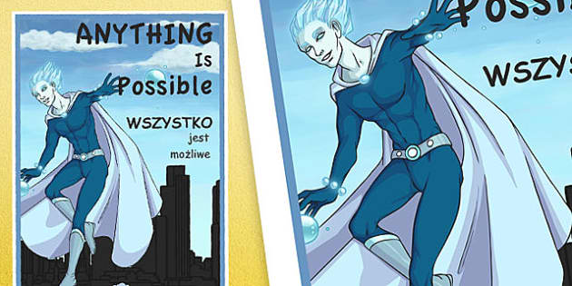 Anything is Possible Motivational Poster Polish Translation - polish, anything is possible, motivational poster, display posters, classroom display, classroom posters, posters