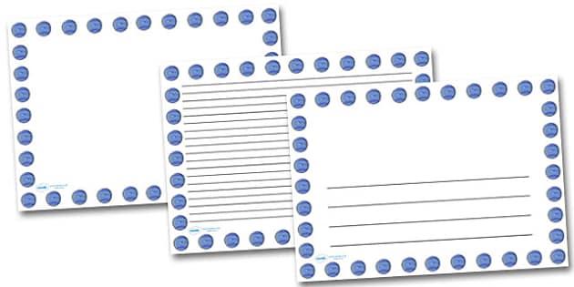 Neptune Landscape Page Borders- Landscape Page Borders - Page border, border, writing template, writing aid, writing frame, a4 border, template, templates, landscape