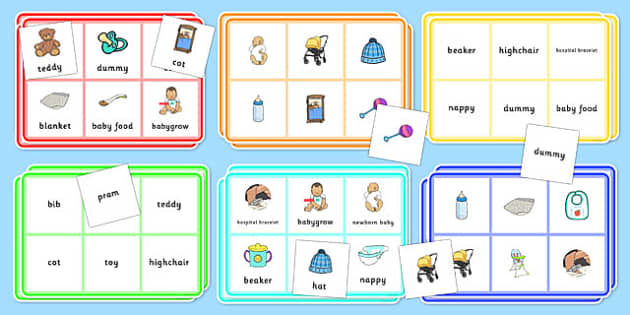 Preparing for a New Baby Bingo Game - Brother, sister, new baby, sibling, birth