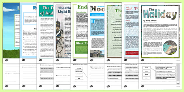 Year 6 Reading Assessments Pack - test, sats, summative, diagnostic, practice, ks2, comprehension, moonfleet