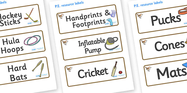 Wren Themed Editable PE Resource Labels - Themed PE label, PE equipment, PE, physical education, PE cupboard, PE, physical development, quoits, cones, bats, balls, Resource Label, Editable Labels, KS1 Labels, Foundation Labels, Foundation Stage Label