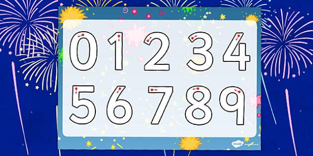 Bonfire Night Number Formation Worksheet - bonfire night, number