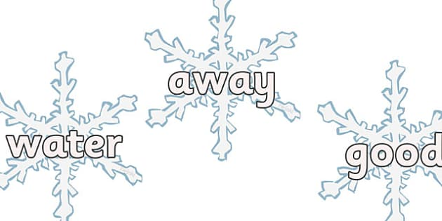 Next 200 Common Words on Snowflakes - Next 200 common words, snowflake, winter, DfES Letters and Sounds, Letters and Sounds, Letters and sounds words, Common words, 200 common words