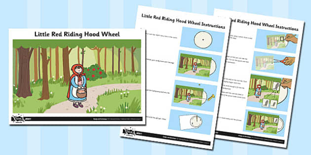 Activity Sheet Little Red Riding Hood Wheel - activity, wheel, worksheet