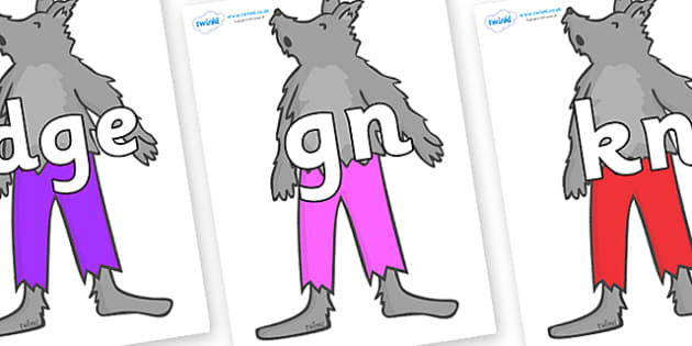 Silent Letters on Werewolf - Silent Letters, silent letter, letter blend, consonant, consonants, digraph, trigraph, A-Z letters, literacy, alphabet, letters, alternative sounds