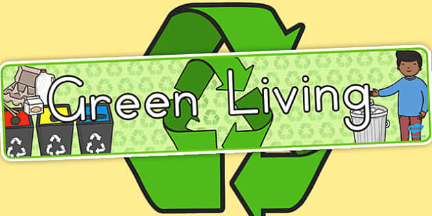 Green Living Display Banner - display, banners, posters, green
