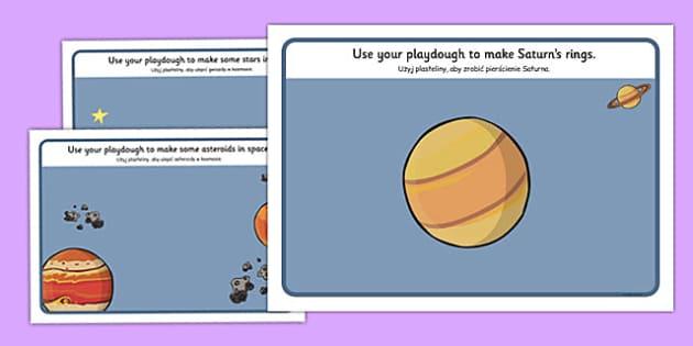 Space Playdough Mats Polish Translation - polish, space, playdough mats, playdough, mats, language