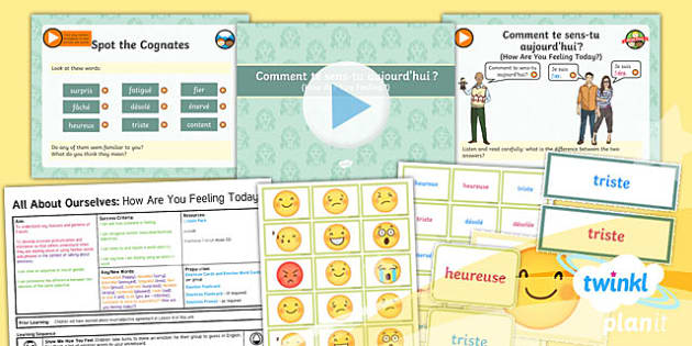 PlanIt - French Year 5 - All About Ourselves Lesson 5: How Are You Feeling Today? Lesson Pack