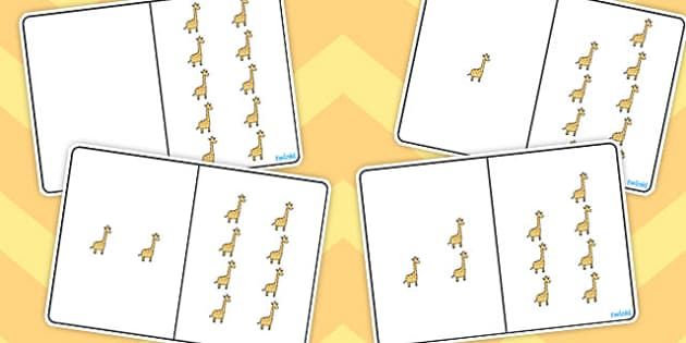 Giraffe Counting Number Bonds to 10 - number bonds, counting