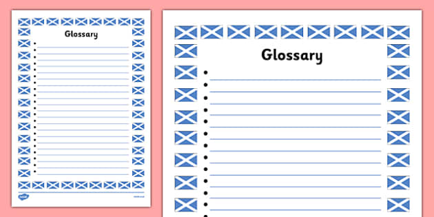 My Scottish Fact File Glossary Template - cfe, fact file, template, scottish, glossary
