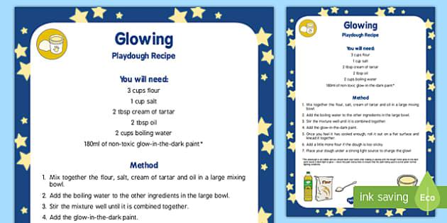 Glowing Playdough Recipe