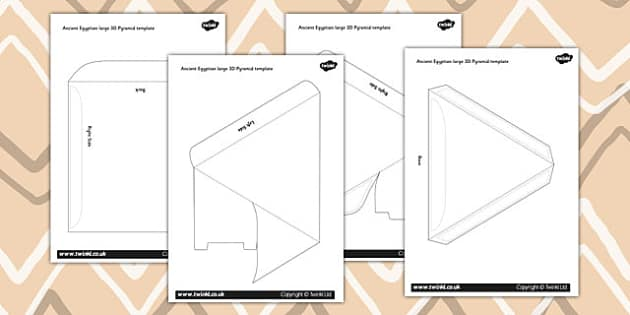 Make Your Own 3d Pyramid Template - ancient egypt, egyptians