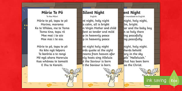 Mārie te pō Silent Night Song Lyrics