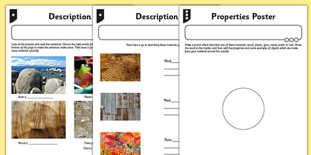 Description Activity Sheet - descriptions, activity, sheet, science, worksheet