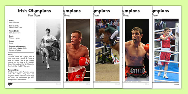 Rio 2016 Olympics Irish Olympians File Pack - Ireland, Irish, olympians, medals, fact files