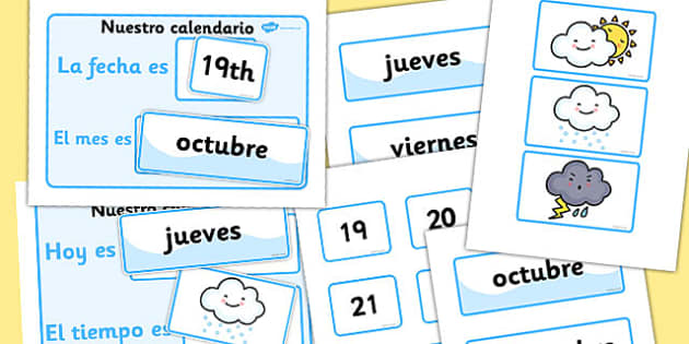 Our Daily Calendar Spanish Version - spanish, calendar, daily